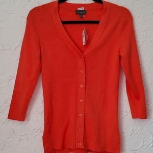 The Limited Orange Cardigan